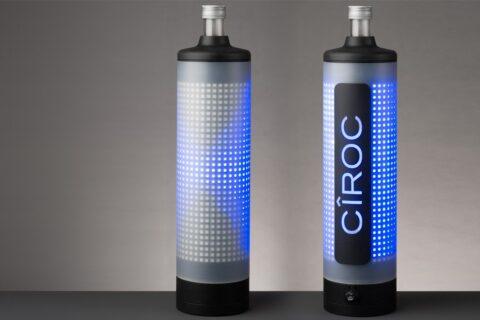 LED vodka bottle ciroc sleeve
