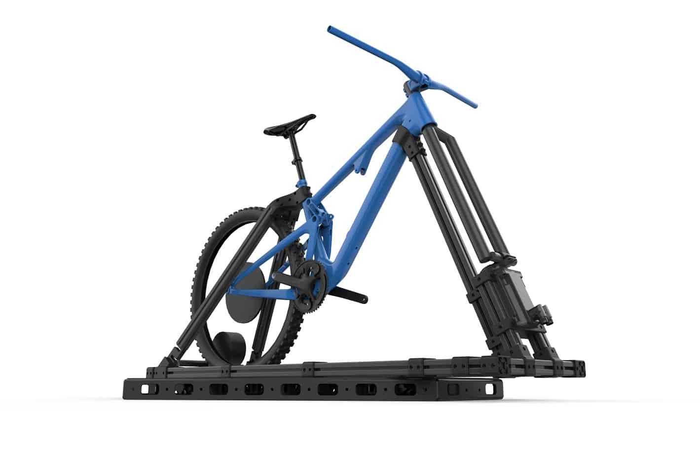 Bicycle simulator design computer render